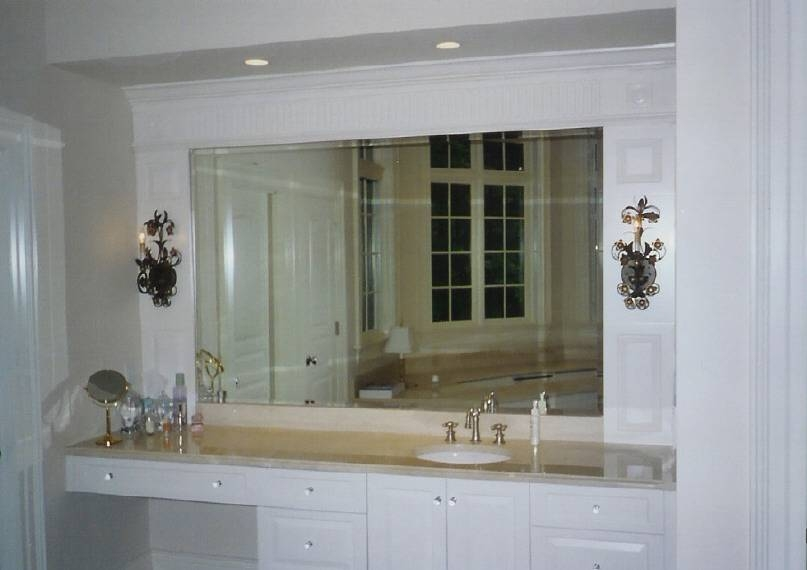 Attractive Ideas Beveled Bathroom Mirror Mirrors Pertaining To Bevelled 4