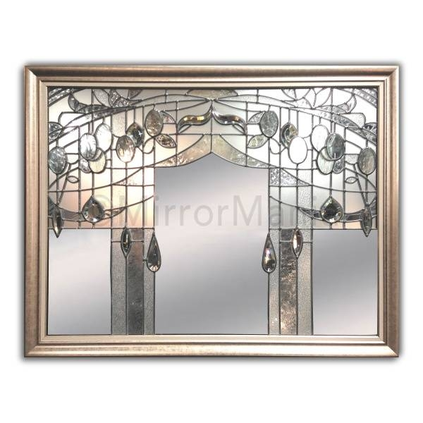 Aubrey Original Handcrafted Art Nouveau Styled Overmantle Wall Mirror Throughout Art Nouveau Wall Mirrors (#14 of 20)