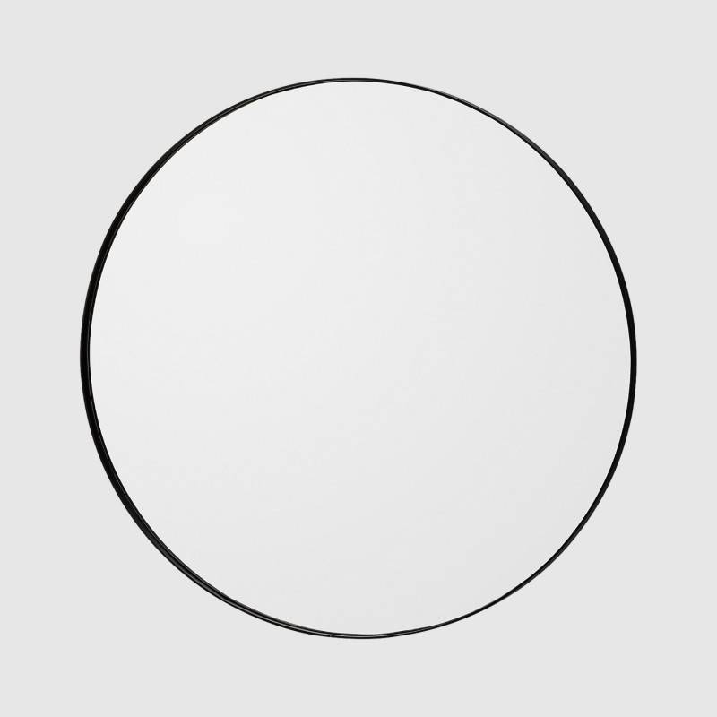 Aytm – Circum Round Wall Mirror – Large – Black Frame | Haygen In Large Black Round Mirrors (View 25 of 30)