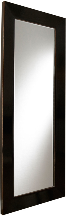 Bali Black Lacquer Large Floor Mirror   Mirrors Pertaining To Black Large Mirrors (#6 of 20)
