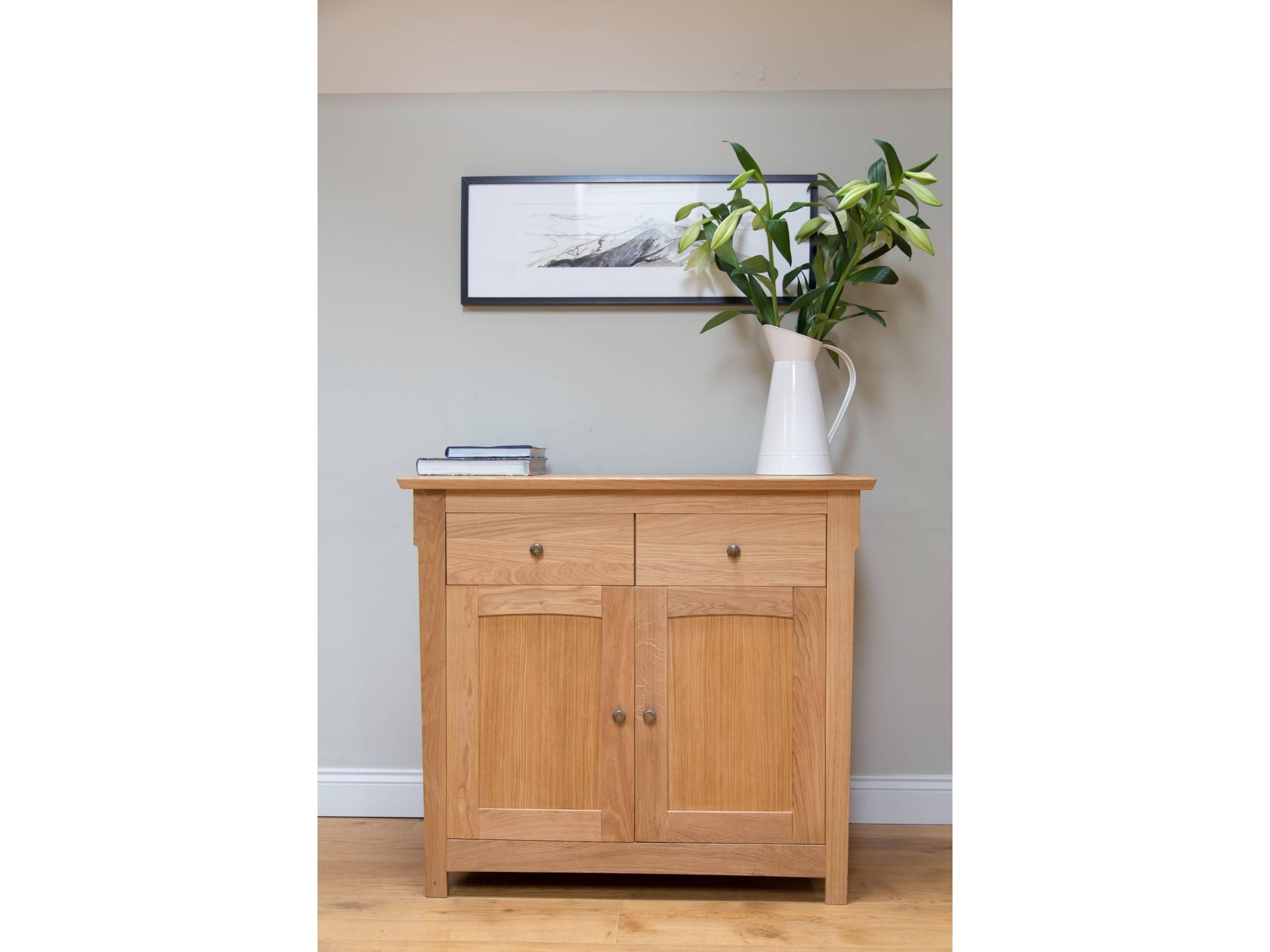 Baltic Small Oak Sideboard – 100Cm Wide | Small Wooden Sideboard Pertaining To Small Wooden Sideboard (#1 of 20)