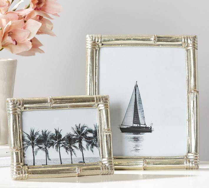 Inspiration about Bamboo Silver Gilt Frames | Pottery Barn Throughout Silver Gilt Mirrors (#17 of 20)