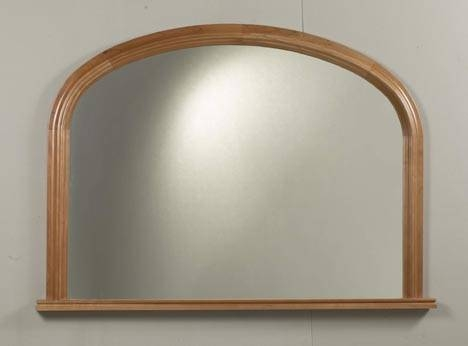 Bangor Solid Wood Overmantle Mirror Throughout Over Mantle Mirrors (#7 of 30)