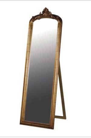 Baroque Gold Full Length Mirror In Gold Full Length Mirrors (#4 of 30)
