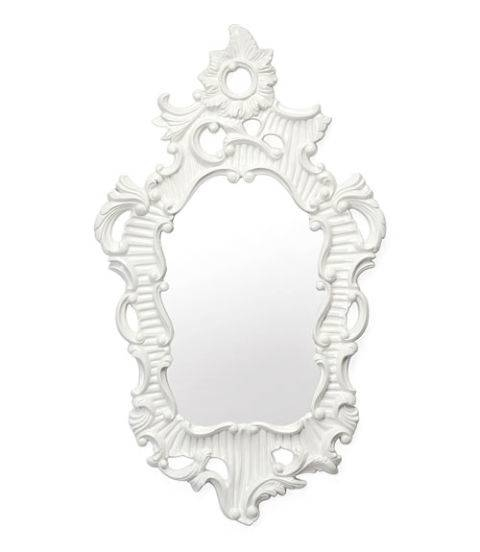 Baroque Home Decor – White Baroque Home Accessories With Regard To White Baroque Mirrors (#5 of 20)