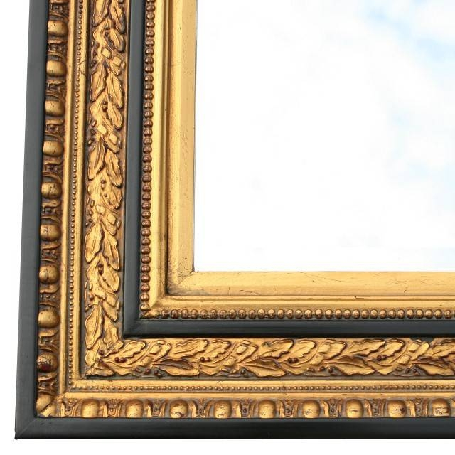 Baroque Wall Mirror Crystal Glass Gold Red Black Sumptuous Still Throughout Black And Gold Wall Mirrors (#6 of 20)