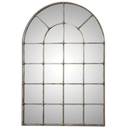 Barwell Forged Metal With Oxidized Plated Silver Arch Window For Arched Window Mirrors (View 18 of 20)