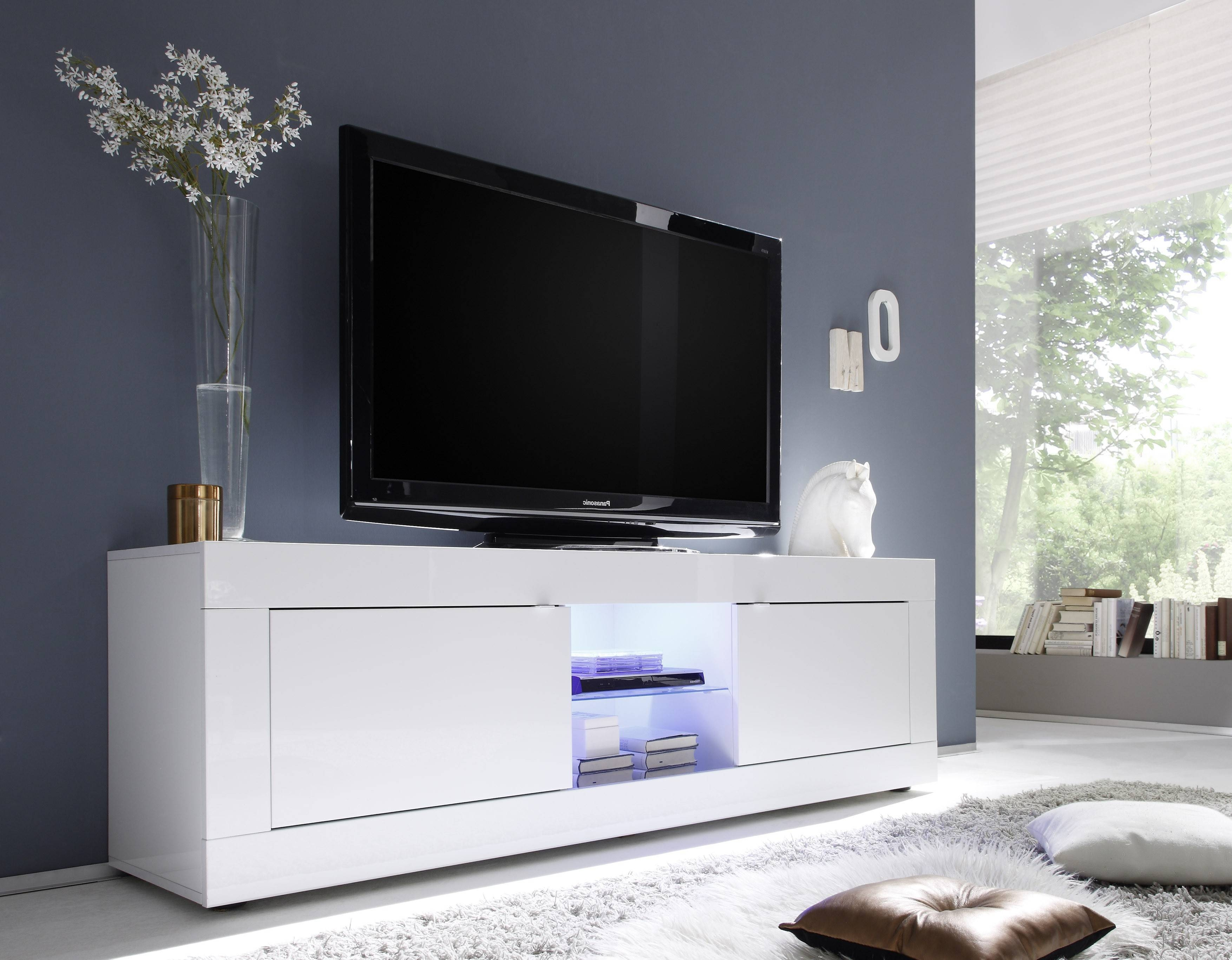 Basic Big Tv Stand, All White Buy Online At Best Price – Sohomod For Sideboard Tv Stand (#5 of 20)
