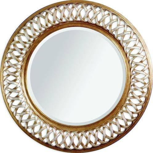 Bassett Mirror 6357 711Ec Alissa Wall Mirror, Silver And Gold Old Throughout Old Style Mirrors (#11 of 30)