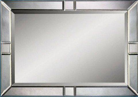 Bassett Mirror M2846Bec Contempo Beveled Rectangle Wall Mirror With Bevelled Glass Mirrors (#5 of 20)