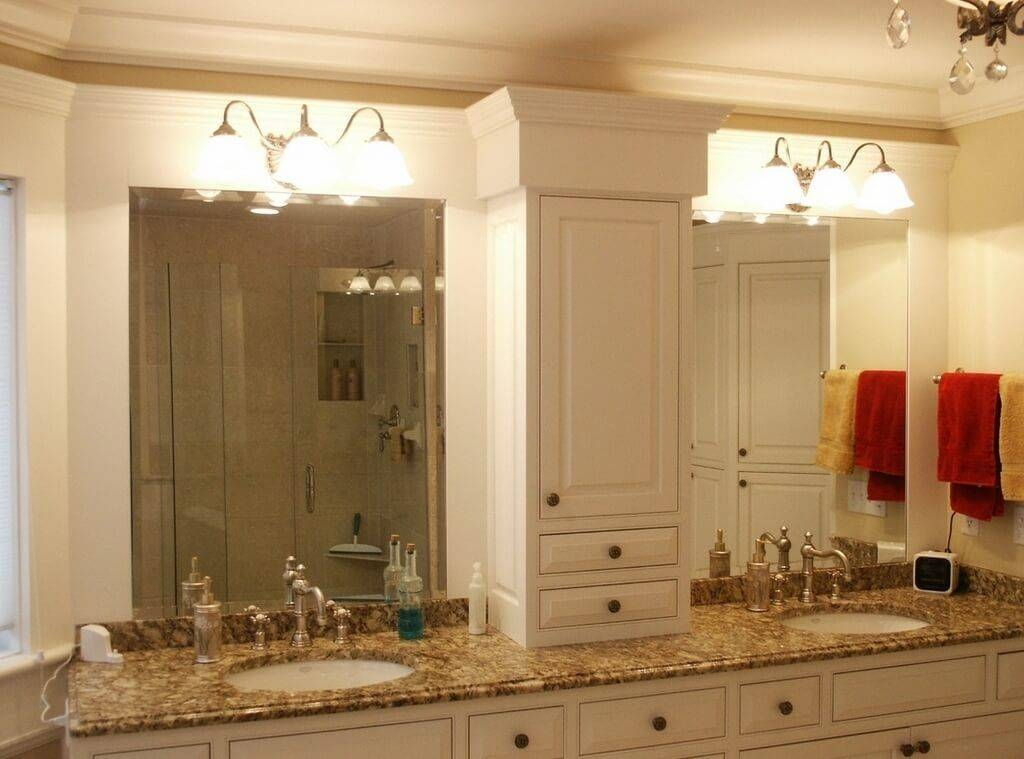 Bathroom: Beveled Bathroom Vanity Mirror Design Ideas – The Inside Double Bevelled Mirrors (View 5 of 30)