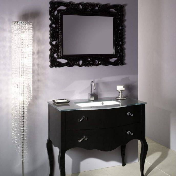 Bathroom Cabinets : Large Antique French French Style Bathroom Throughout French Style Bathroom Mirrors (#8 of 30)