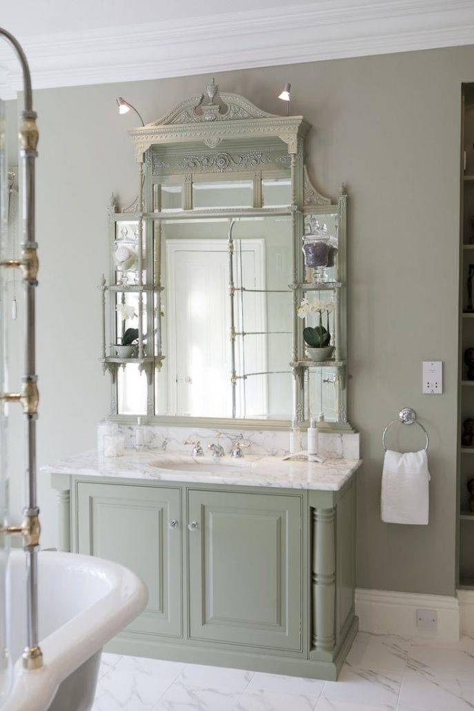 Bathroom Cabinets : Marvelous Country Bathroom French Style With French Style Bathroom Mirrors (#9 of 30)
