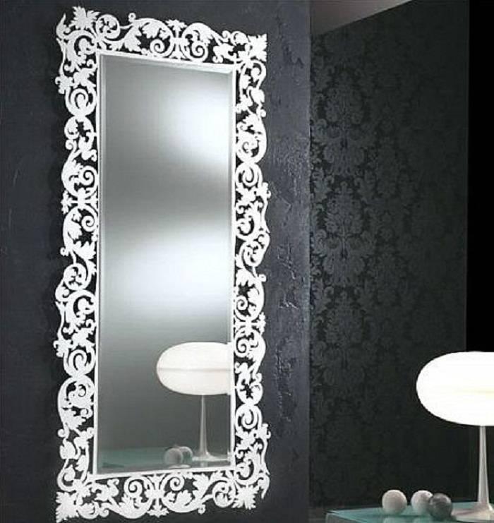 Bathroom Decorative Mirrors Regarding Big Silver Mirrors (#4 of 20)