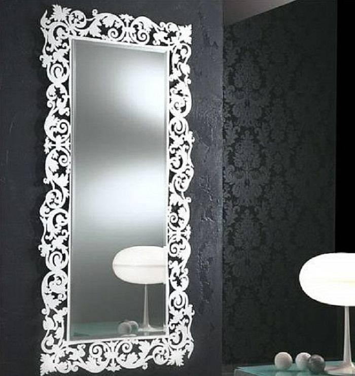 Decorative fancy decorative mirror designs for Fancy white mirror