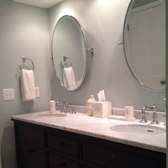 Bathroom Furniture: New Modern Oval Bathroom Mirrors Frameless Throughout White Oval Bathroom Mirrors (#2 of 20)