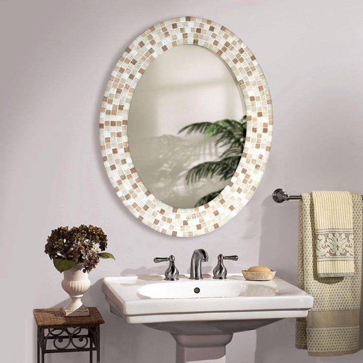Bathroom Furniture: New Modern Oval Bathroom Mirrors Frameless With White Oval Bathroom Mirrors (#3 of 20)