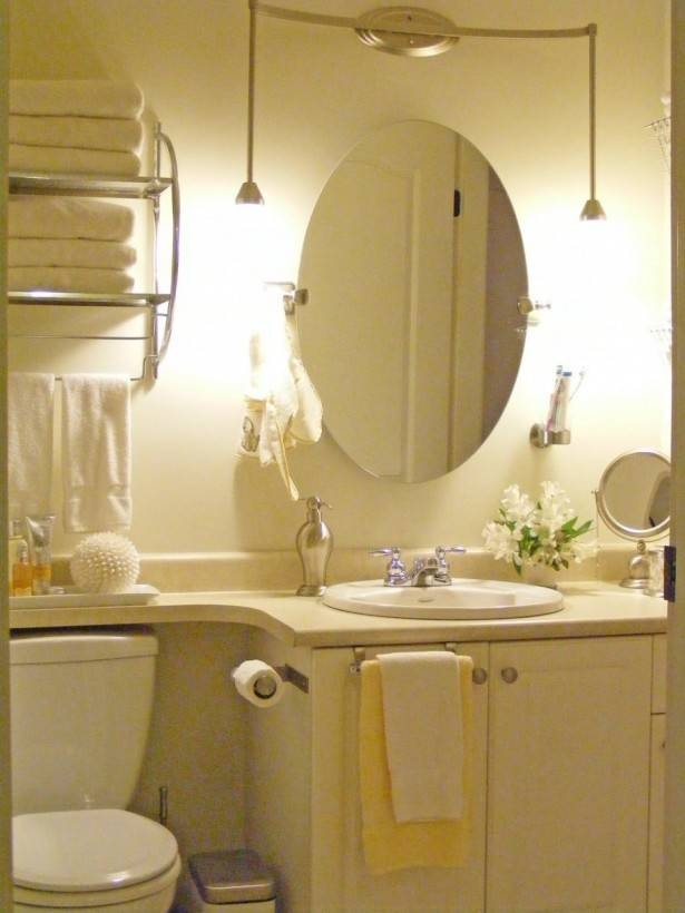 Bathroom Ideas: Framed Oval Home Depot Bathroom Mirrors Above With White Oval Bathroom Mirrors (#4 of 20)