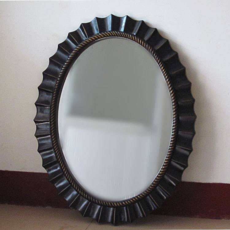 Bathroom Ideas: Great Oval Bathroom Mirrors For The Bathroom In Black Oval Mirrors (#12 of 30)