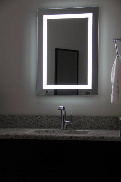 Bathroom Illuminated Mirrors 25 Best Bathroom Mirrors Ideas On Intended For Large Illuminated Mirrors (#9 of 30)