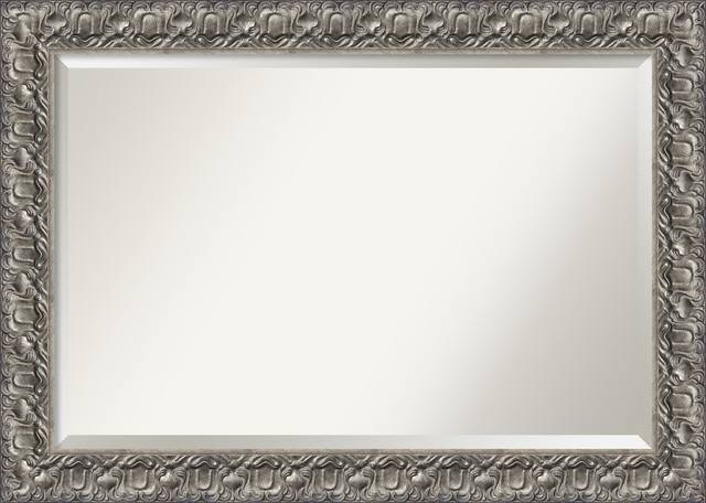Bathroom Mirror, Silver Luxor – Modern – Bathroom Mirrors – Within Silver Rectangular Bathroom Mirrors (#7 of 20)