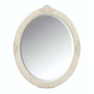 Bathroom Mirrors – Bath – The Home Depot Intended For Antique White Oval Mirrors (View 14 of 20)