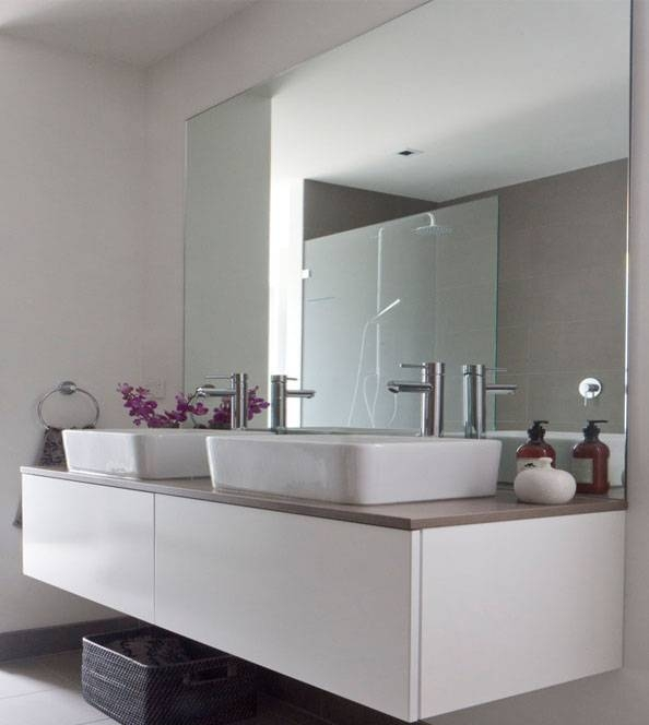 Bathroom Mirrors Design And Ideas – Inspirationseek Throughout Large Frameless Bathroom Mirrors (#7 of 30)