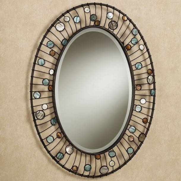 Bathroom: Mirrors For Bathrooms Ideas Hung On Cream Wall With Oval Regarding Oval Shaped Wall Mirrors (#7 of 15)