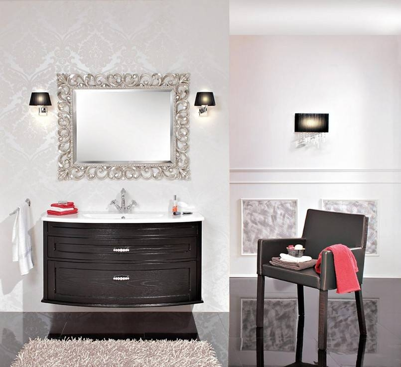 Bathroom: Mirrors For Bathrooms In White Themed Bathroom With In Silver Rectangular Bathroom Mirrors (#8 of 20)