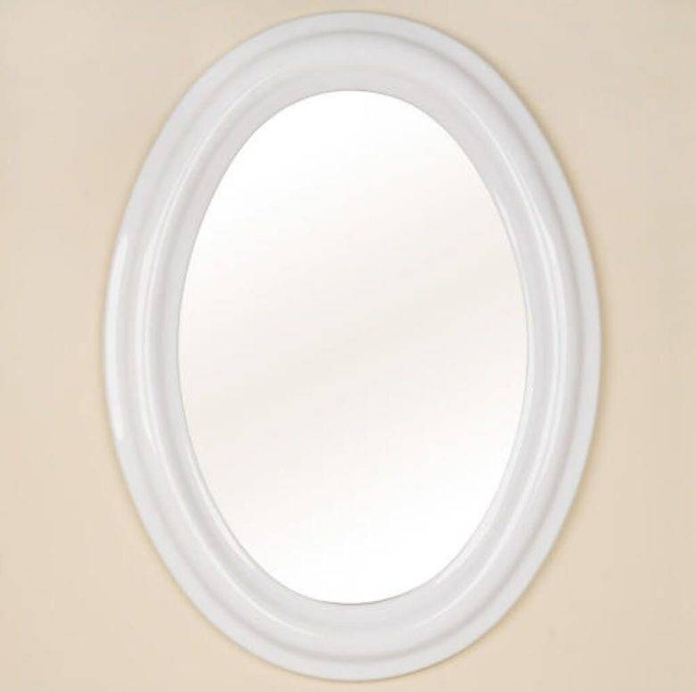 Bathroom: Oval Bathroom Mirrors: Empower Dynamic Atmosphere – Oval Throughout White Oval Bathroom Mirrors (#9 of 20)