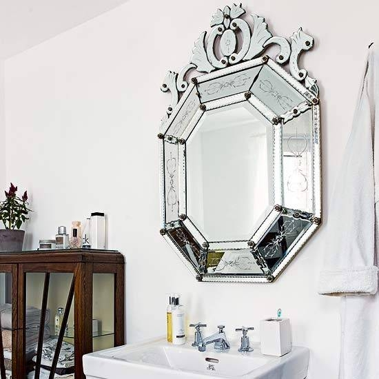 Bathroom Wall Mirror Styles For Sophisticated Private Room | Home With Regard To Antique Bathroom Mirrors (View 16 of 20)