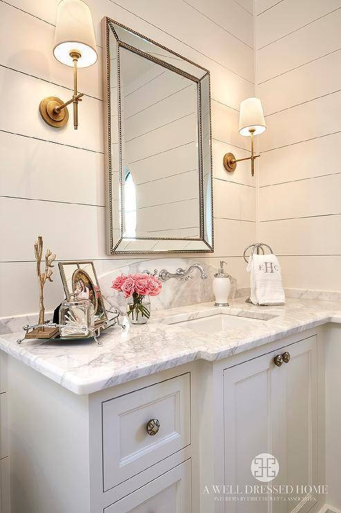 Bathroom With Restoration Hardware Venetian Beaded Mirror Pertaining To Venetian Beaded Mirrors (#2 of 30)