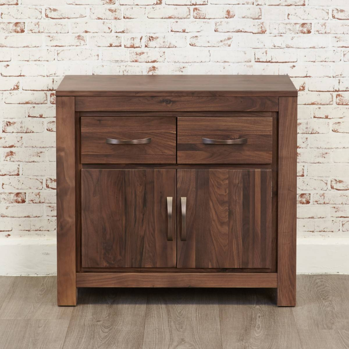 Baumhaus Mayan Walnut Small Sideboard Cwc02C Intended For Small Sideboard (#2 of 20)