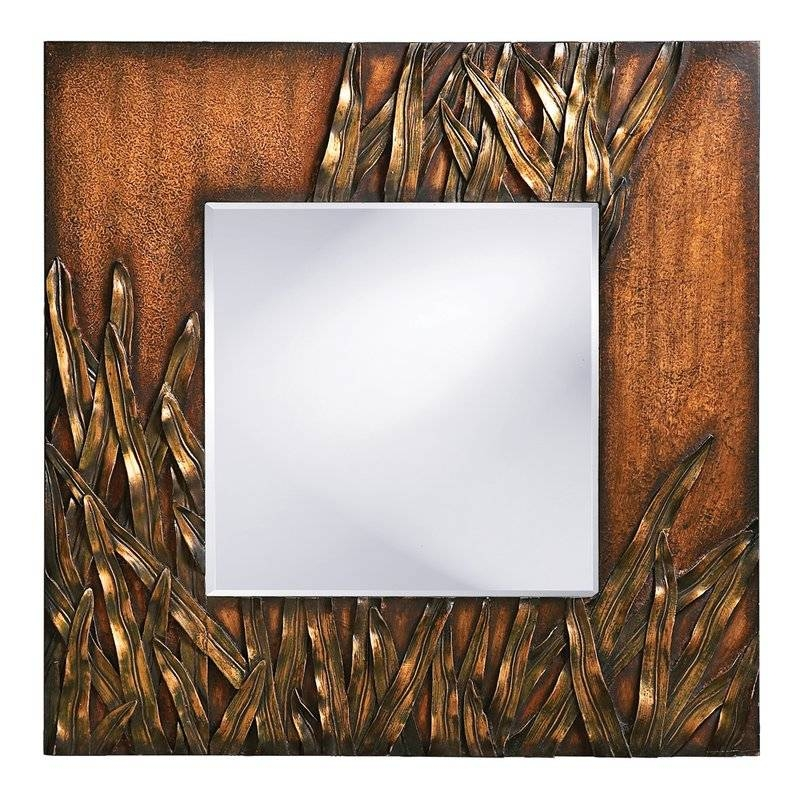 Bayou Breeze Square Antique Red Wood Wall Mirror & Reviews | Wayfair In Red Wall Mirrors (#4 of 30)
