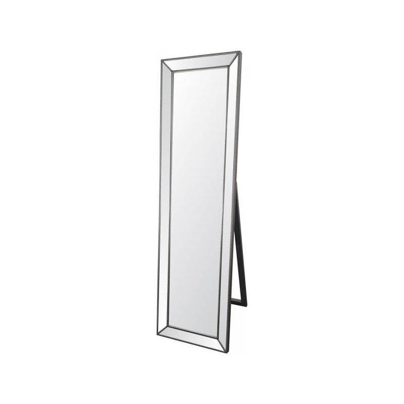 Beaded Trim Full Length Cheval Mirror Intended For Full Length Cheval Mirrors (View 6 of 20)