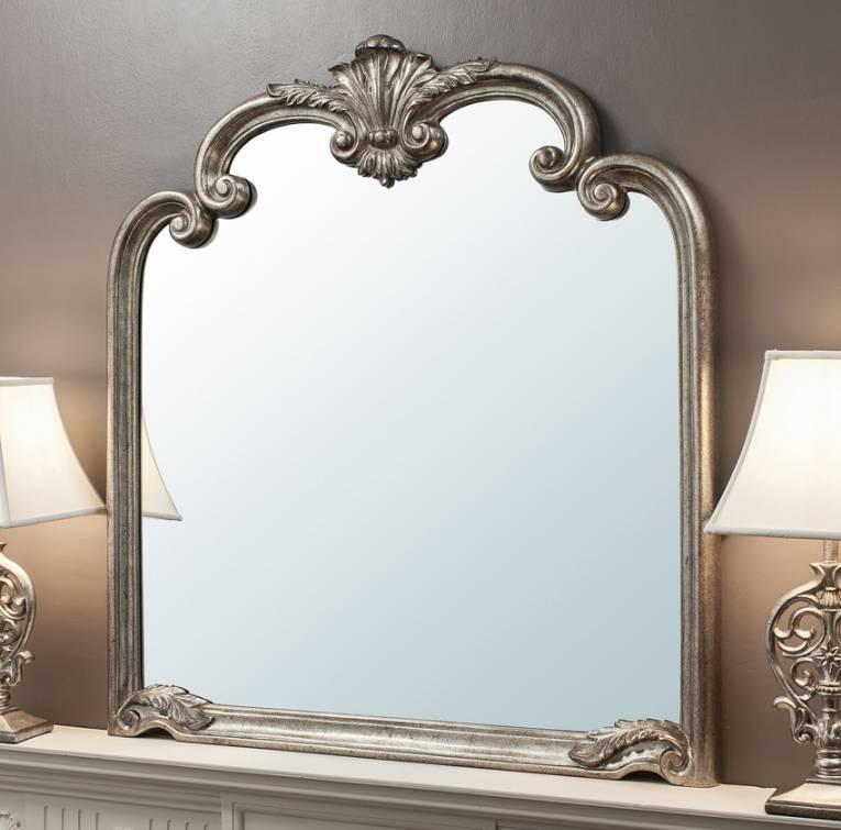 Beatrice Ornate Silver Mirror Regarding Ornate Silver Mirrors (View 10 of 20)