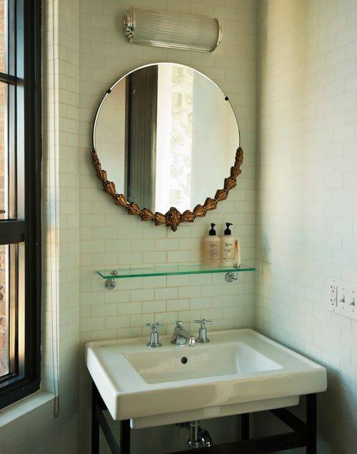 Beautiful Antique Bathroom Mirror Gallery – Home Decorating Ideas Regarding Vintage Bathroom Mirrors (#6 of 30)