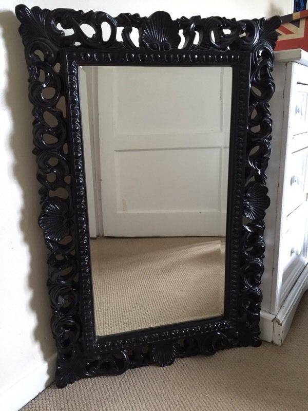 Beautiful Large Black Mirror | In Newmarket, Suffolk | Gumtree Pertaining To Large Black Mirrors (#6 of 30)