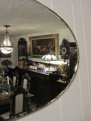 Beautiful Large Oval Beveled Wall Mirror 29 X 17 Art Deco Quality Within Large Oval Wall Mirrors (#7 of 30)