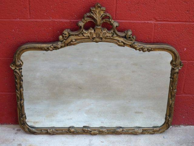 Beautiful Ornate Antique Vintage Gold Painted Wood Gesso Wall For Vintage Large Mirrors (#10 of 30)
