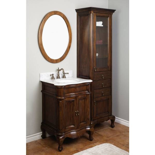 Beautiful Paint Bathroom Sink Cabinet Over Distressed Wood Planks Inside Distressed Framed Mirrors (#11 of 30)