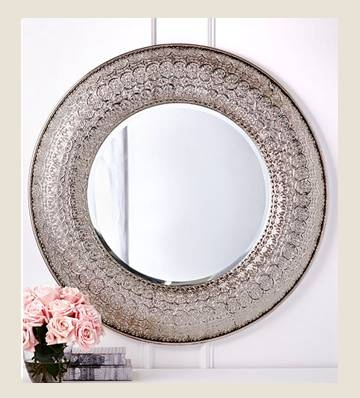 Beautiful Silver Wall Mirrors Decorative Contemporary – Home Intended For Silver Round Mirrors (#9 of 30)