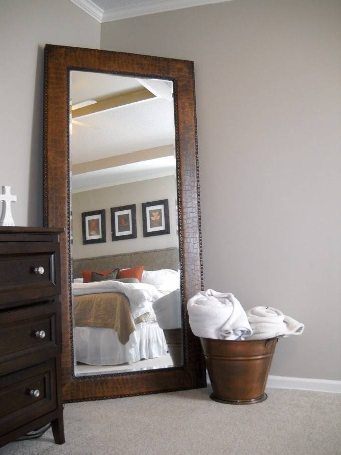 Bedroom: Decorative Leaner Mirror For Home Furniture Ideas With Regard To Large Brown Mirrors (#10 of 30)