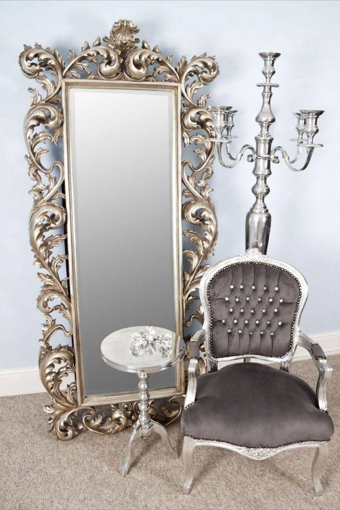 Bedroom Furniture Sets : Metal Mirror Shabby Chic Mirror Square Intended For Shabby Chic Full Length Mirrors (#8 of 20)