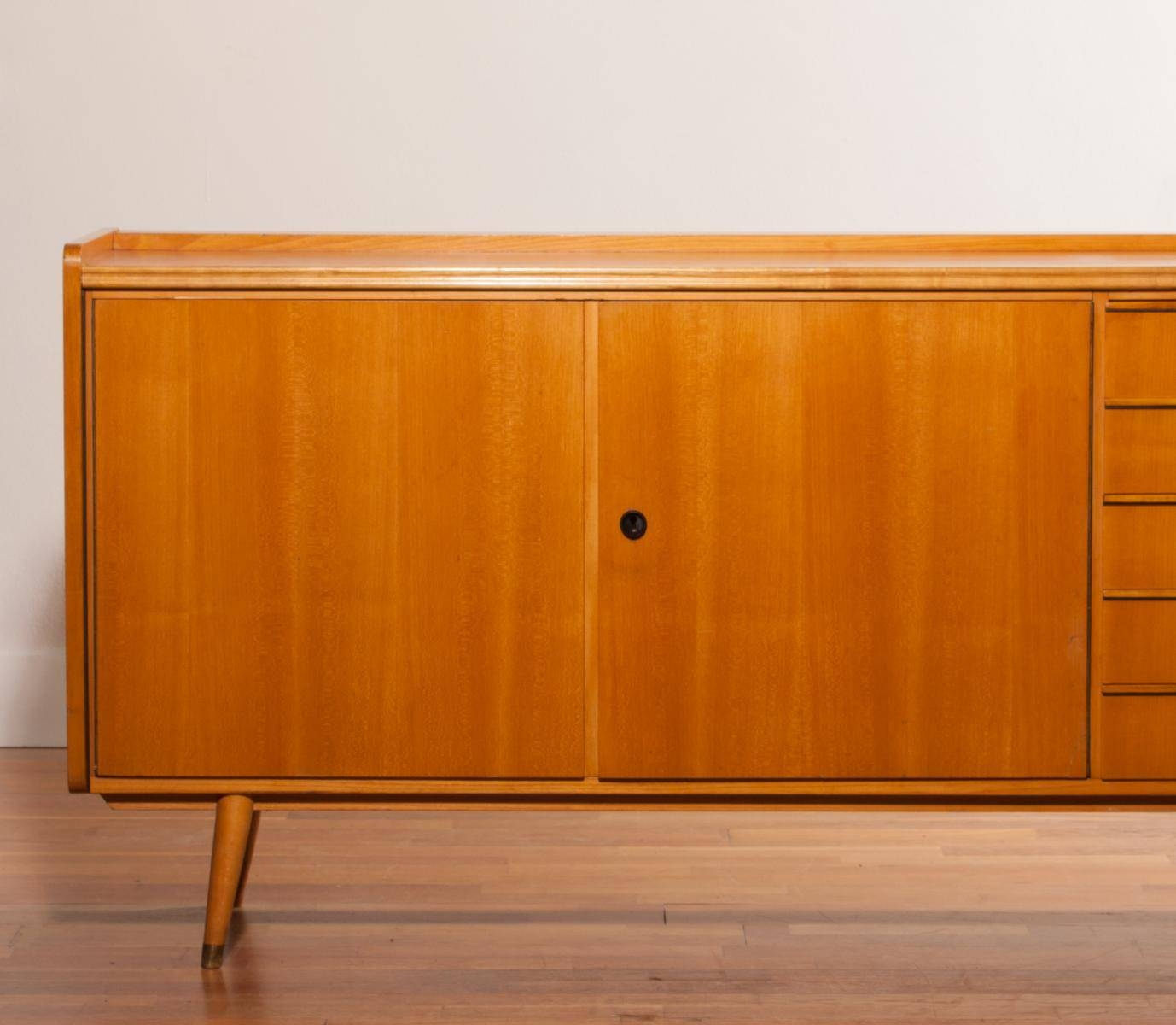 Beech Sideboard, 1950S For Sale At Pamono Pertaining To Beech Sideboards (#4 of 20)