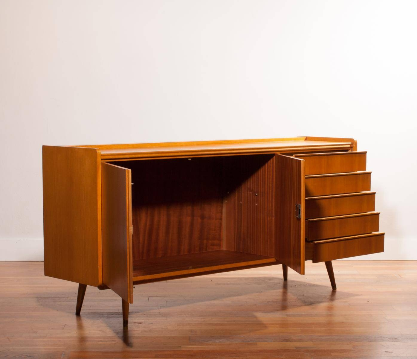 Beech Sideboard, 1950S For Sale At Pamono Throughout Beech Sideboards (#5 of 20)