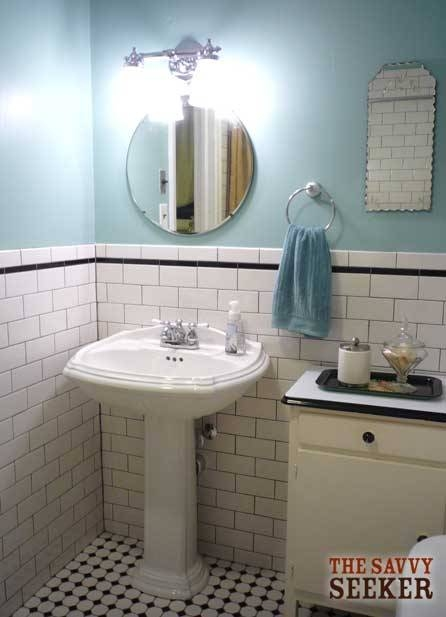 Before & After: Bathroom Mirror (Plus Giveaway!) | Thesavvyseeker Inside Vintage Bathroom Mirrors (#7 of 30)