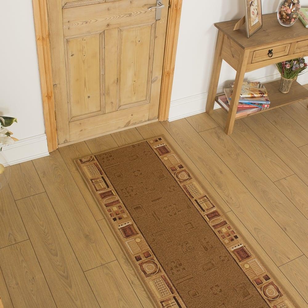 Beige Hallway Carpet Runner Jena In Hall Runners Any Length (#7 of 20)