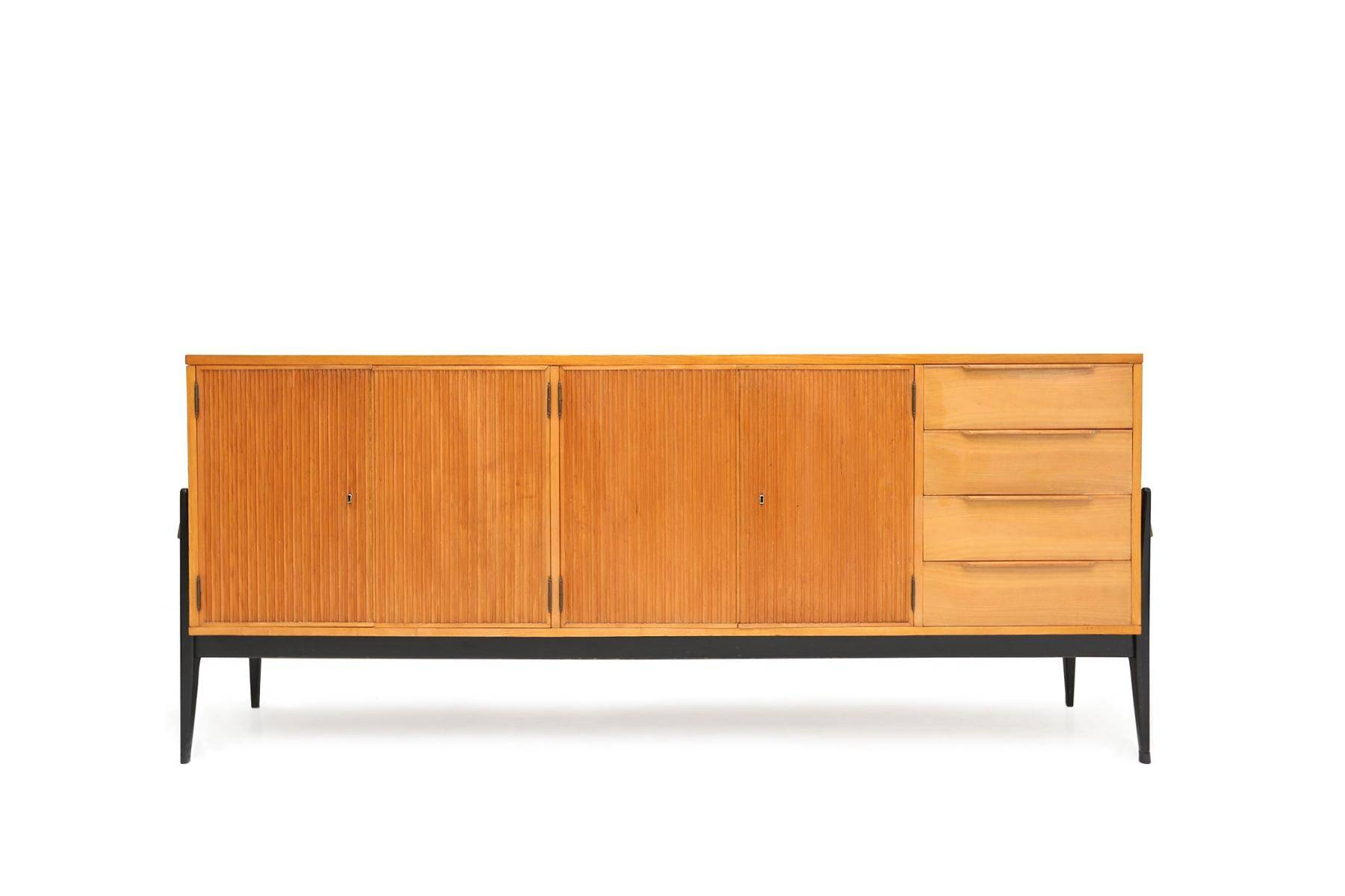 Belgian Wooden Sideboard For Sale At Pamono Intended For Sideboard For Sale (#8 of 20)