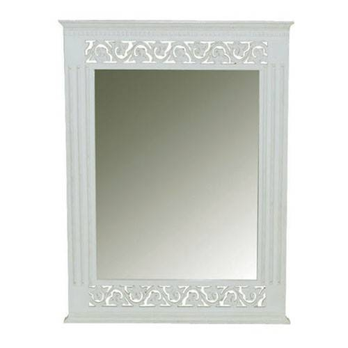 Belgravia Chic Wall Mirror – White Pertaining To White Shabby Chic Wall Mirrors (#5 of 20)